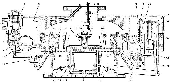 Схема карбюраторов К-88А и К-
