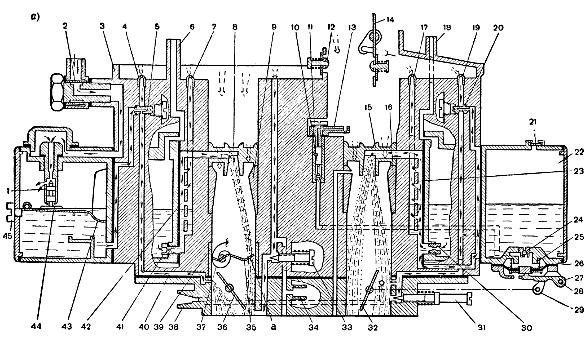 Карбюратор К-255, схема