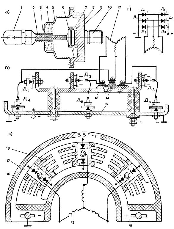 Генератор г254б схема