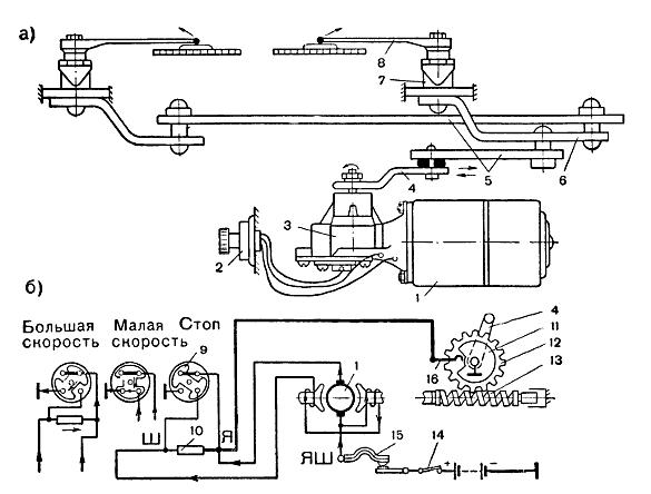 б — электрическая схема