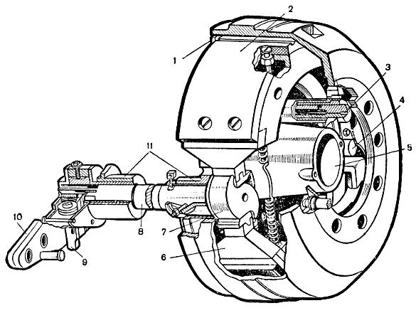 Тормозной механизм задних