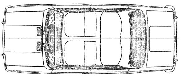 Схема автомобиля ВАЗ-2101 (вид